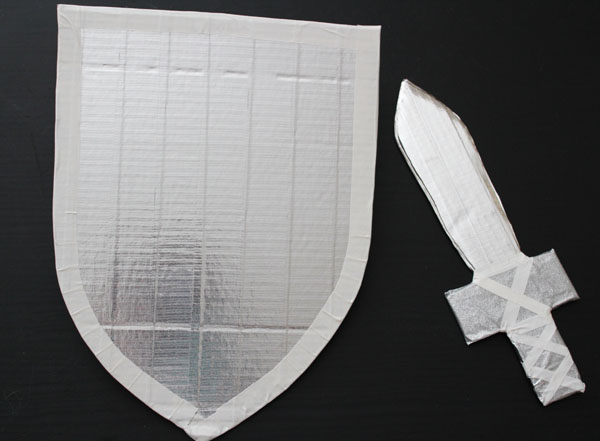 Duck Tape Sword and Shield Tutorial
