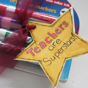 Gift Tag for Teacher Appreciation School Supplies