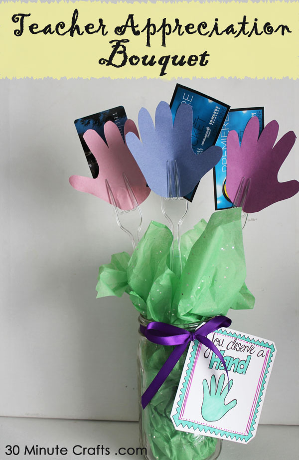 Teacher Appreciation Bouquet tutorial