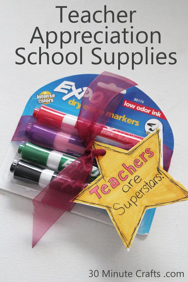 Teacher Appreciation School Supplies