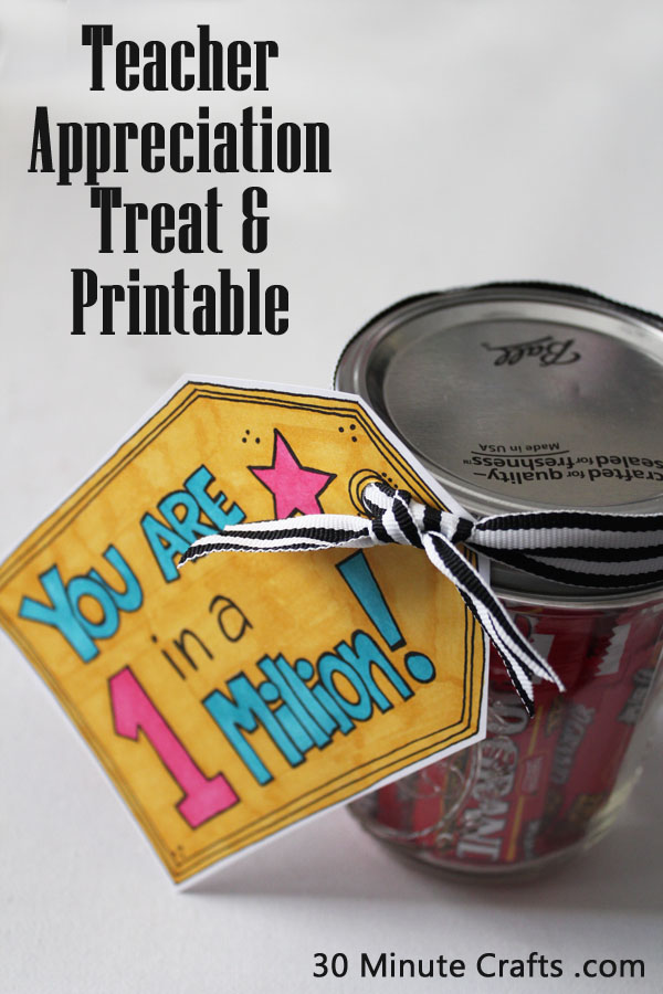 Teacher Appreciation Treat and Printable