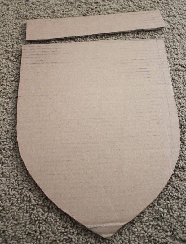 cut shield and handle shapes
