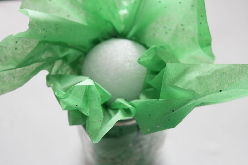 put in styrofoam ball