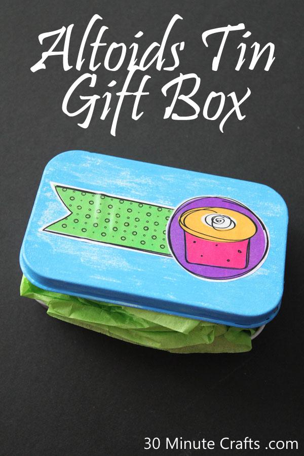 Altoids Tin Gift Box Tutorial