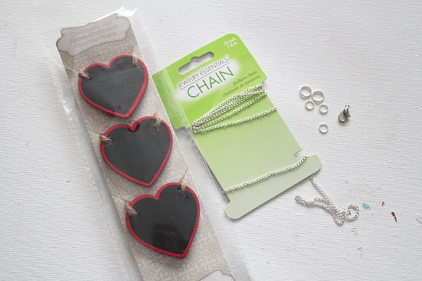Chalkboard Necklace Supplies