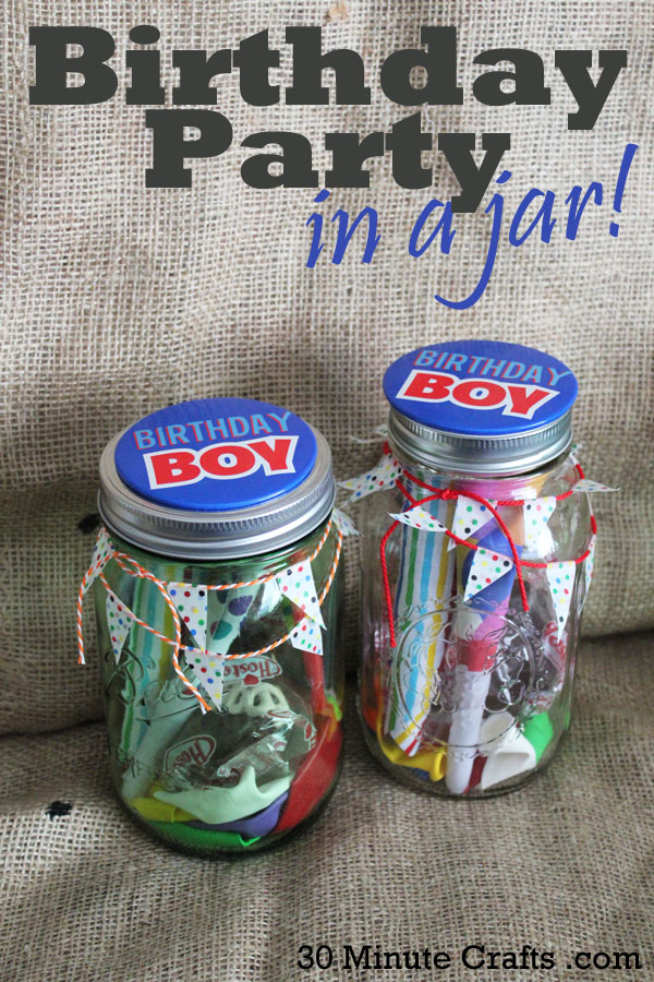 Make a Birthday Party in a Jar