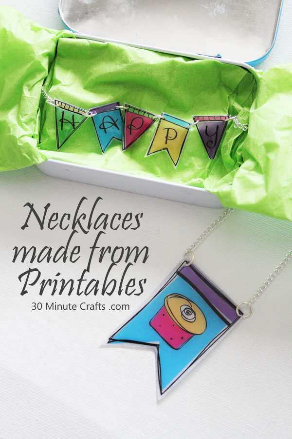 Necklaces made from printables