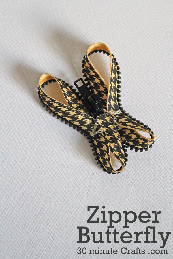 Tutorial for how to make a zipper butterfly