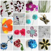 craft flower collage