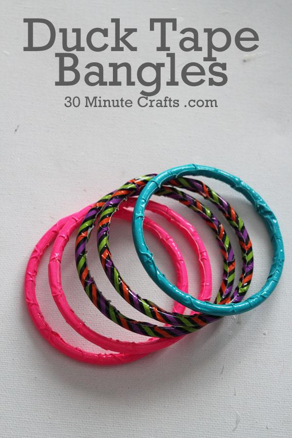 duck tape bangle bracelets