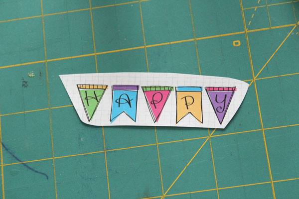 part of printable used for happy necklace