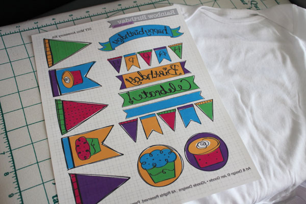 print on fusible transfer paper in reverse