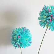 simple pom pom flowers