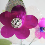 sparkle flower with glitter center
