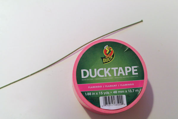 supplies for Duck Tape Dandelion