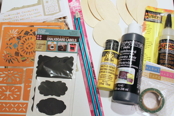 supplies for chalkboard flower