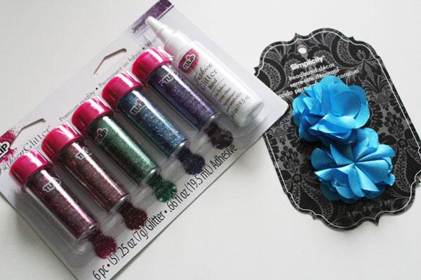 supplies for glitter tipped flower