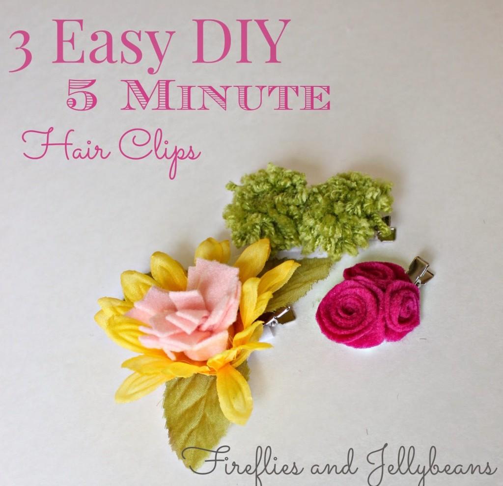 Easy DIY Hair Clips 1