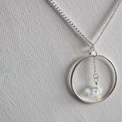 circle dangle necklace