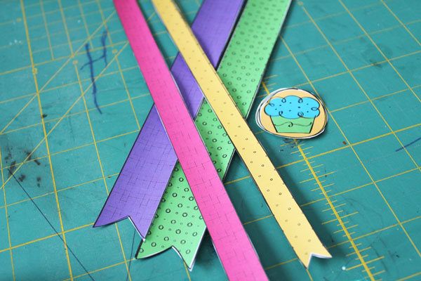 cut paper ribbons