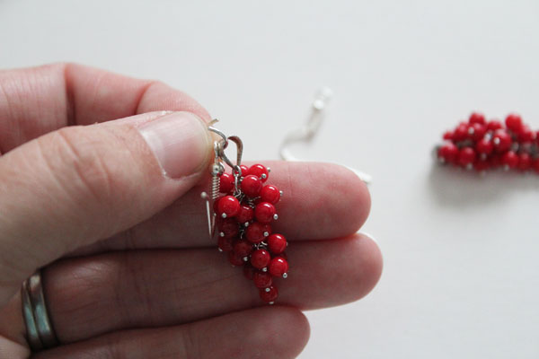 finished cluster earring