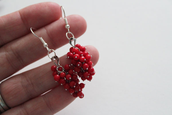 finished cluster earrings