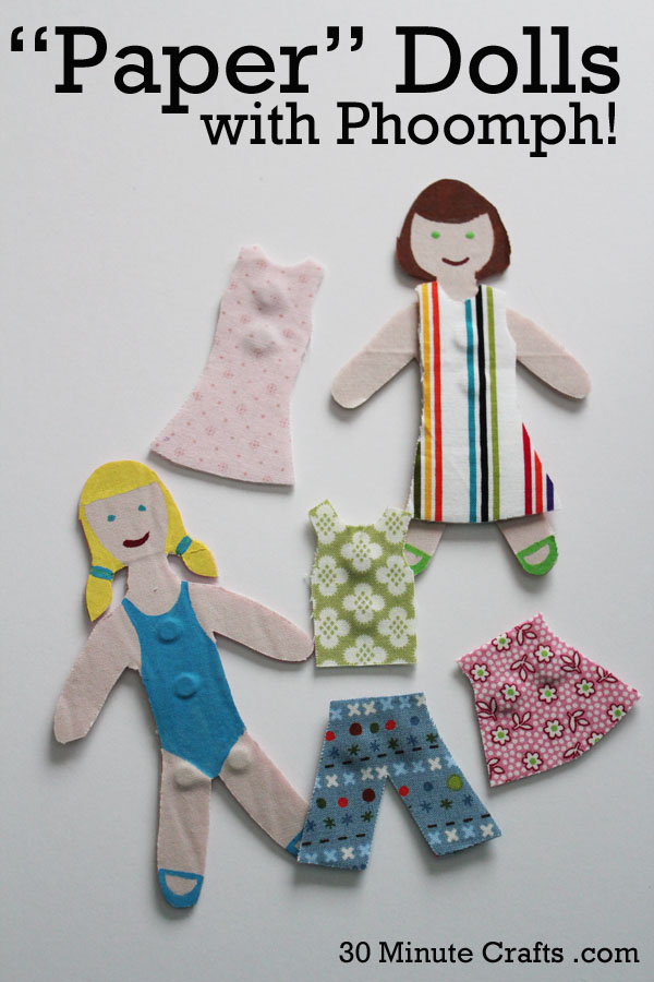 paper dolls made with phoomph