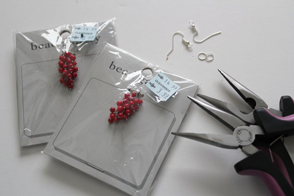 supplies for cluster earrings