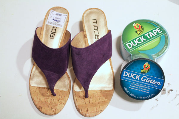 supplies for duck tape shoes
