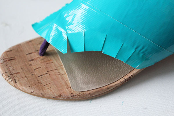 trim duck tape for shoes