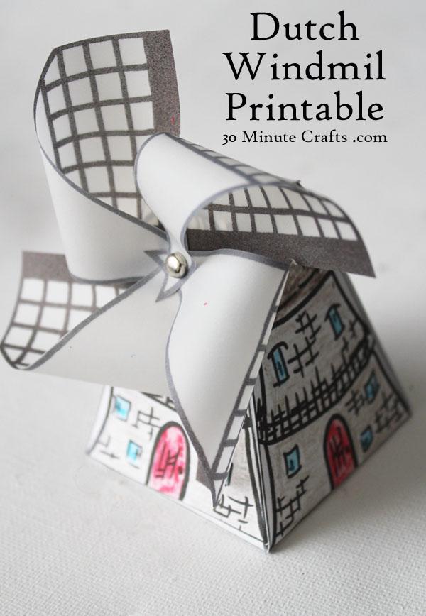 Dutch Windmill Printable
