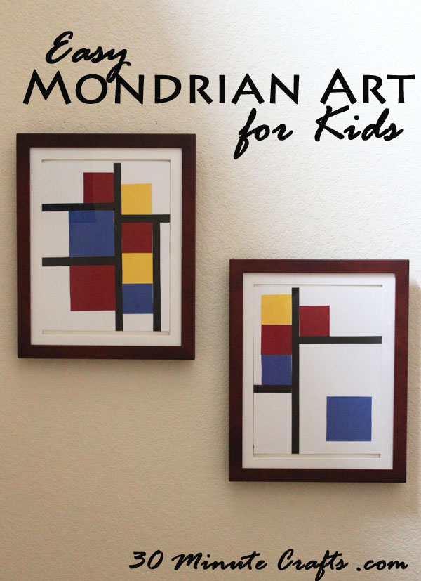 Easy Mondrian Inspired Art for Kids