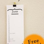 Free Printable Perpetual Birthday Calendar