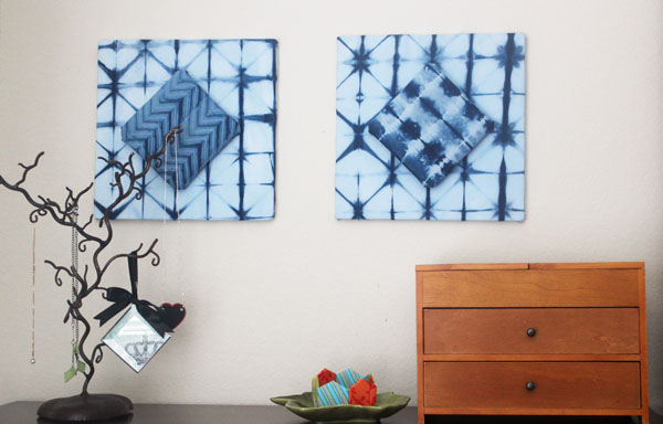 Make DIY No-Sew Fabric decor for your walls
