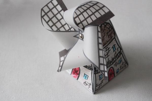 Printable Dutch Windmill