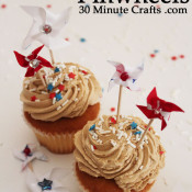 Ribbon Pinwheels - fun to make on cupcakes