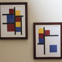 easy to make mondrian art for kids tutorial