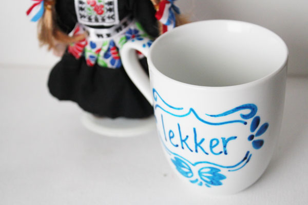 faux delft blue lekker mug