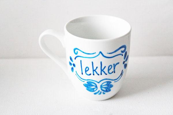 faux delft blue mug