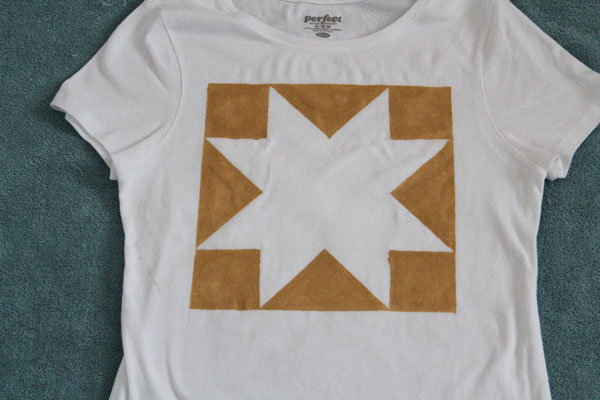 Frog Tape Stenciled Tee