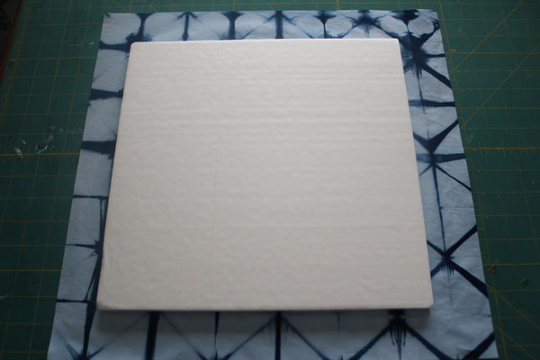 place foam on fabric