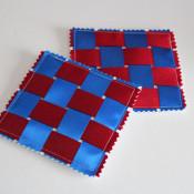 woven ribbon coasters