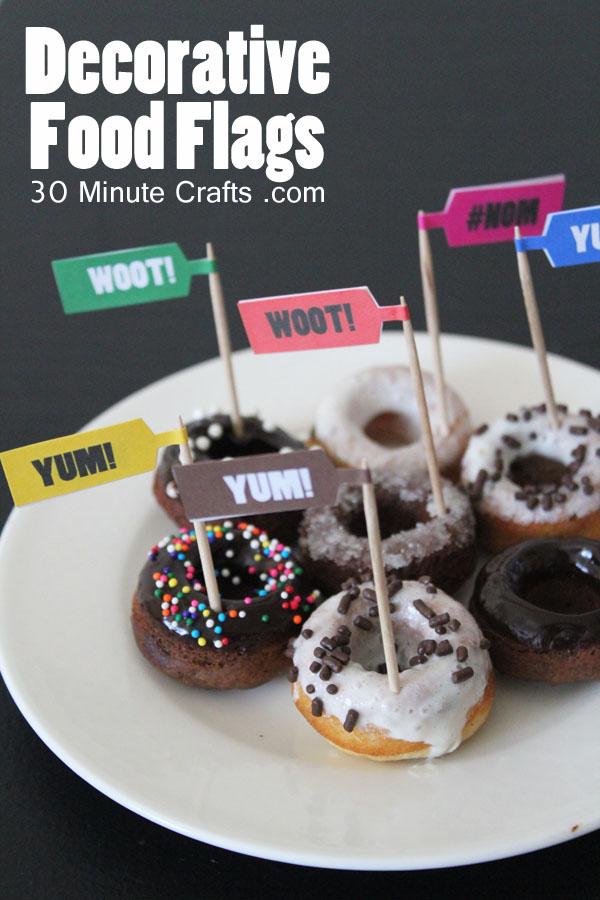 Mini Food Flags