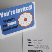 Donut party invitations