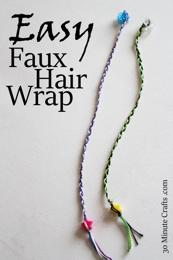 Easy Faux Hair Wrap