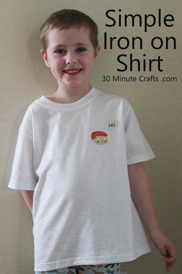 Simple Iron on Shirt DIY