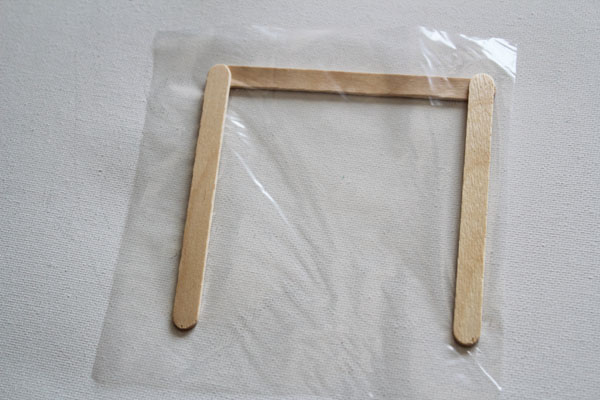 make popsicle stick frame