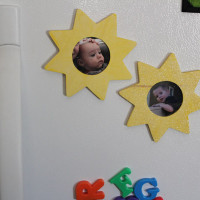 simple wooden magnet frame