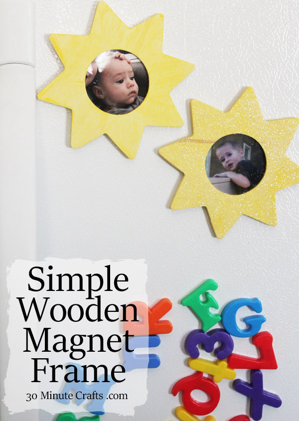 simple wooden magnet frame to make with kids