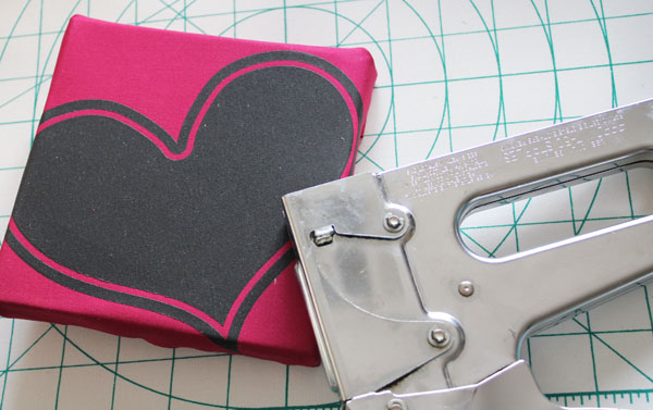 staple on fabric